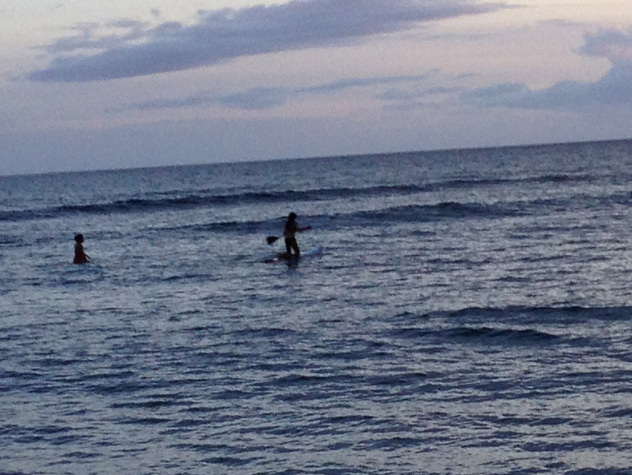 Mandy Surfing and Me Trying to Paddleboard