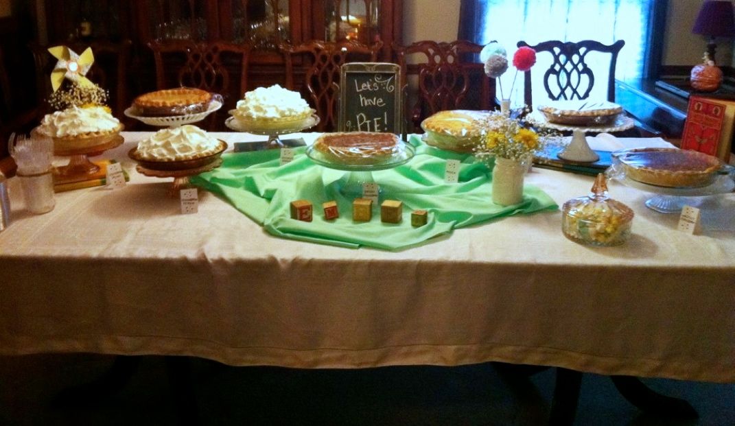 Pies at Ember's Baby Shower